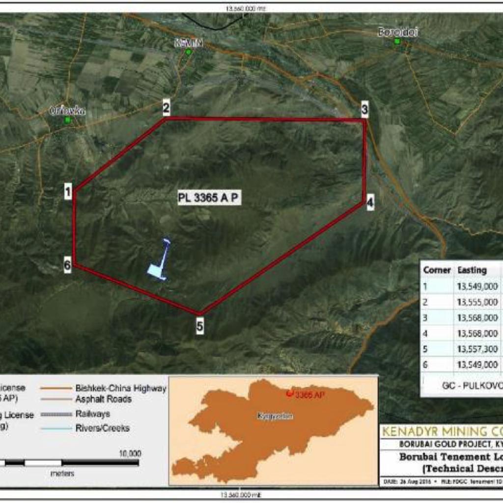 Borubai Tenement Location Map